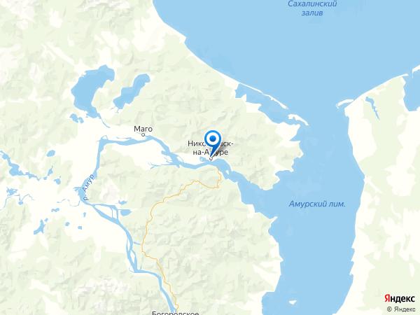 Николаевск-на-Амуре на карте