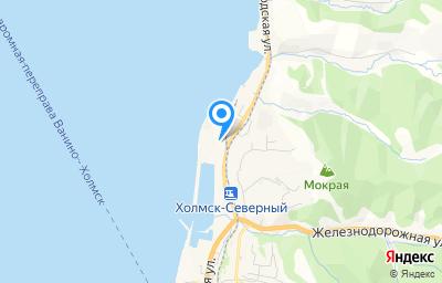 Местоположение на карте пункта техосмотра по адресу Сахалинская обл, г Холмск, ул Лесозаводская, д 25