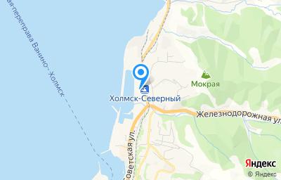 Местоположение на карте пункта техосмотра по адресу Сахалинская обл, г Холмск, ул Лесозаводская, влд 25