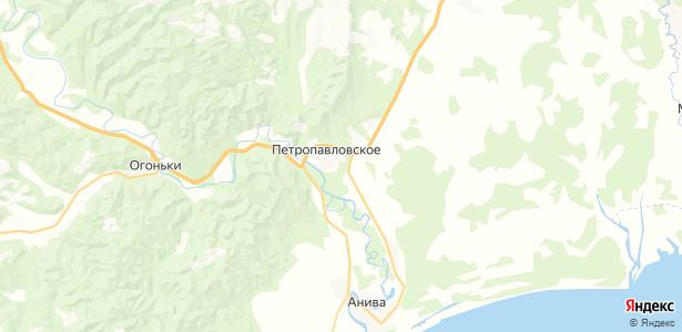 Петропавловское на карте