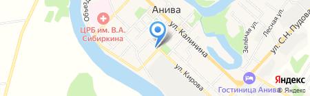 Совет веранов ВОВ и труда на карте Анивы