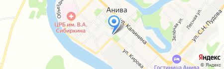 Есферь на карте Анивы