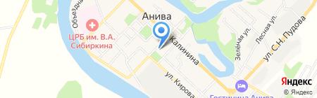 Золотой на карте Анивы
