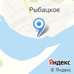 Причал удачи на карте Южно-Сахалинска