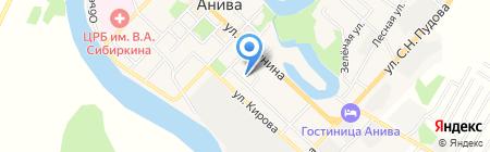 Марина на карте Анивы