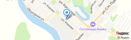 Детский сад №1 им. Ю.А. Гагарина на карте Анивы