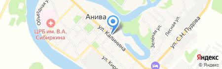 Птицефабрика Островная на карте Анивы