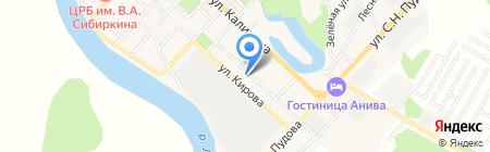 Звездочка на карте Анивы