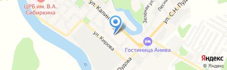 Средняя общеобразовательная школа №1 на карте Анивы
