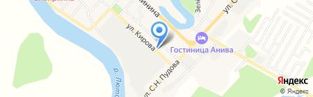 Островной на карте Анивы