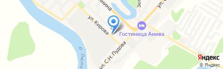 Ольга на карте Анивы