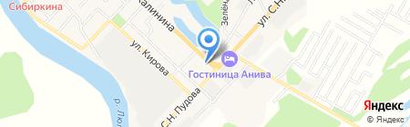 Домино на карте Анивы
