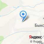 Крильон на карте Южно-Сахалинска