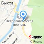 Долинский пожарный отряд на карте Южно-Сахалинска