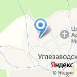 Отрадное на карте Южно-Сахалинска