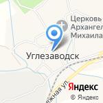 Отдел по управлению территорией с. Углезаводск на карте Южно-Сахалинска