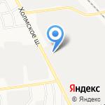 Транзит 27 на карте Южно-Сахалинска