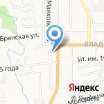 Станция по борьбе с болезнями животных №1 на карте Южно-Сахалинска