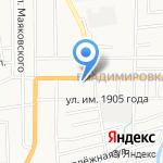 Кантри на карте Южно-Сахалинска
