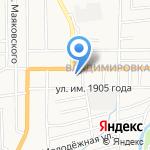 Магазин автотоваров на карте Южно-Сахалинска