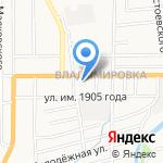 Спутник на карте Южно-Сахалинска