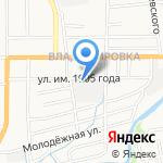 Магазин автошин на карте Южно-Сахалинска