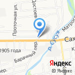 Interra на карте Южно-Сахалинска