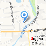 Беленький на карте Южно-Сахалинска