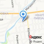 Вектор на карте Южно-Сахалинска