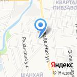 Лайнер на карте Южно-Сахалинска