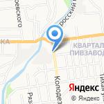 Сити Мотель на карте Южно-Сахалинска