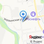 Библиотека №5 на карте Южно-Сахалинска