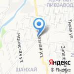 Анклав на карте Южно-Сахалинска