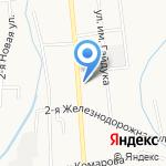 Азалия на карте Южно-Сахалинска