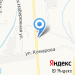 Алевид на карте Южно-Сахалинска