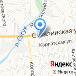 Пожарная часть №5 на карте Южно-Сахалинска