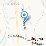 Луговое на карте Южно-Сахалинска