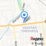 Дерибасовский на карте Южно-Сахалинска
