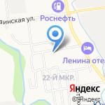 Золотой на карте Южно-Сахалинска