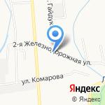 Стрела-С на карте Южно-Сахалинска