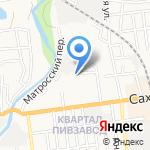 Макси на карте Южно-Сахалинска