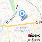 Север на карте Южно-Сахалинска