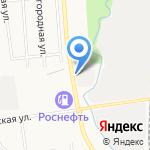 Юрич на карте Южно-Сахалинска