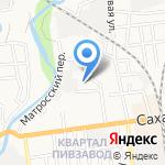 Апельсин на карте Южно-Сахалинска