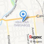 Шоколад на карте Южно-Сахалинска