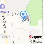 Кусано на карте Южно-Сахалинска