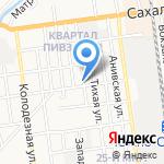 Инсталл на карте Южно-Сахалинска