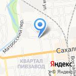 Серебряный родник на карте Южно-Сахалинска