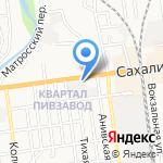 Магазин напитков на карте Южно-Сахалинска