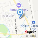 Абсолют-мебель на карте Южно-Сахалинска